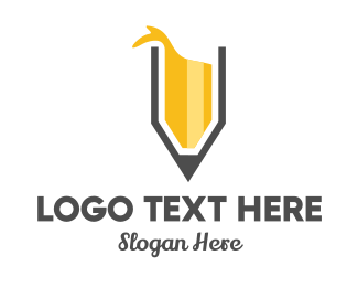 Learn - Yellow Pencil logo design