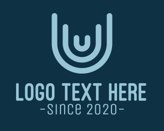 Brand - Blue Structure Letter U logo design