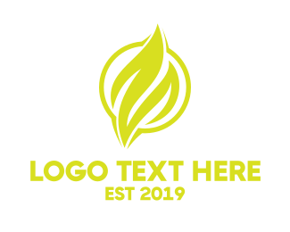Yellow Fire - Yellow Flame Emblem logo design