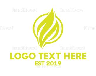 Petroleum - Yellow Flame Emblem logo design