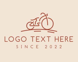Bike - Bike Racing Bicycle logo design