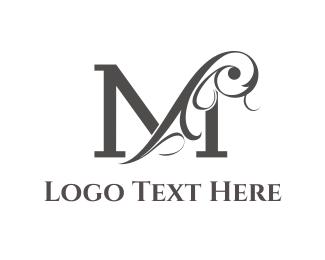Elegant - Floral Letter M logo design