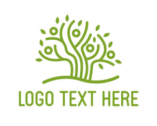 Human Tree - Community  Tree logo design