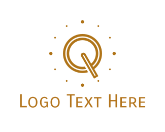 Initial - Brown Letter Q logo design