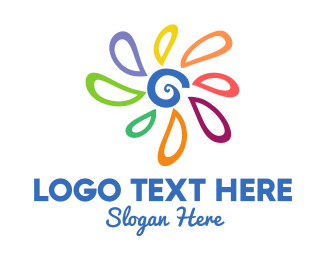 Adoption - Colorful Abstract Flower logo design