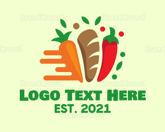 Bread - Bread & Vegetables logo design
