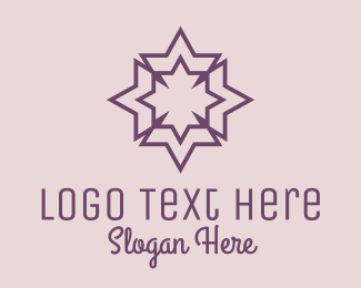 Decor - Geometric Decorative Star  logo design