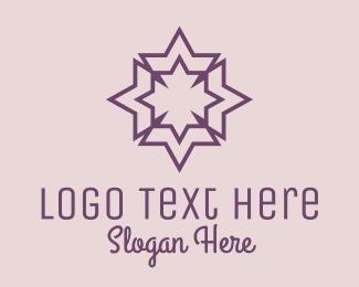 Geometrical - Geometric Decorative Star logo design