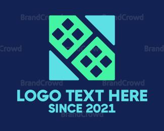 Blue And Gray - Tech Building logo design