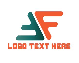 Letter F - F & F logo design