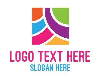 Framing - Colorful Square logo design