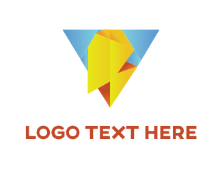 Energy - Lightning  Pyramid logo design