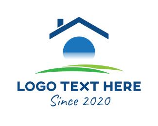 Home Rental - Real Estate Home logo design