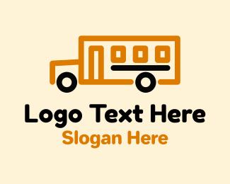 Transport - School Bus Transportation logo design
