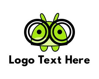Grasshopper - Geek Hamster logo design