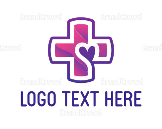 Dating - Purple Cross logo design