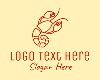 Seafood Restaurant - Red Lobster Restaurant logo design