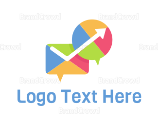 Communicate - Colorful Communication logo design