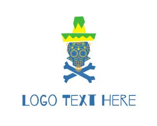 Skull - Mexican Skull logo design
