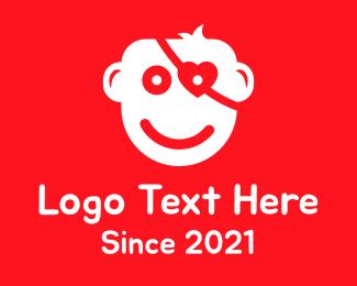 Social Media - Kid Eye Patch logo design