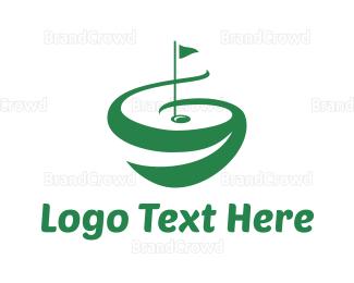 Country Club - Green Golf Course logo design