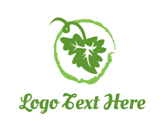 Vineyard - Green Leaf logo design