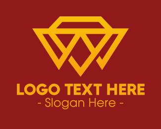 Jewelry Store - Expensive Diamond Triangles logo design