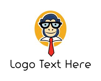 Geek - Monkey Geek logo design
