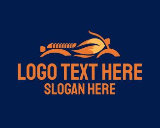 Speed - Flame Motorcycle logo design