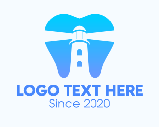 Dental Care - Blue Dental Lighthouse logo design