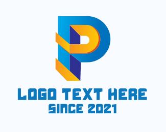 Multimedia - Multimedia Letter P logo design