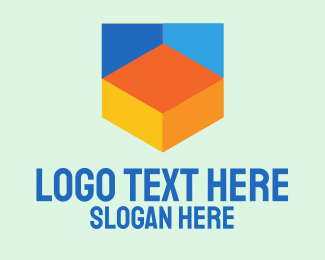 Digital - Colorful Digital Shield  logo design