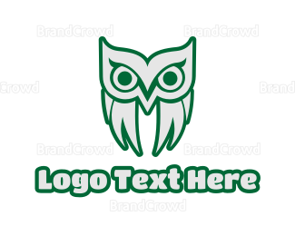 Aviary - Old Green Owl logo design