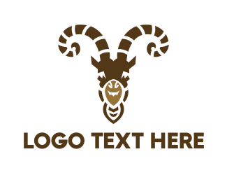Shepherd - Goat Head logo design