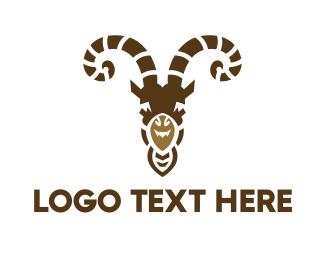 Meat - Goat Head logo design