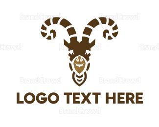 Dairy - Goat Head logo design