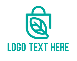 Online Shop - Healthy Shopping logo design