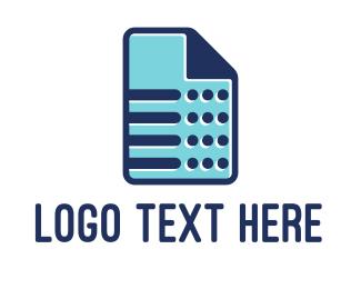 File - Blue Sheet logo design