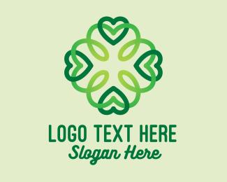 Lucky - Lucky Clover Pattern logo design