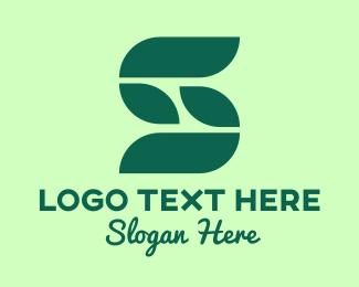 Environment Friendly - Modern Vegan Letter S logo design