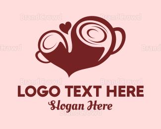 Cacao - Coffee Love logo design