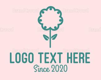 Crowd -  Green Crowd Flower logo design