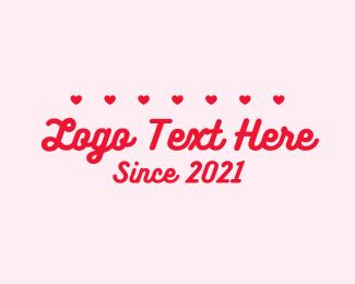 Kissing - Lovely Futuristic Text logo design