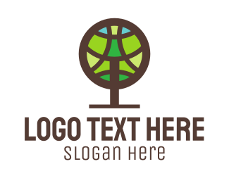 Online Learning - Round Tree logo design