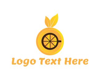 Juice Bar - Orange Drink logo design
