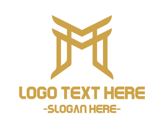 Chinese - Asian Letter M logo design