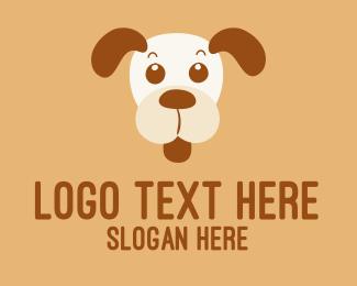 Cheeky - Colourful Dog  logo design