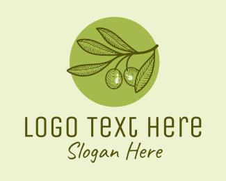 Produce - Vintage Olive logo design