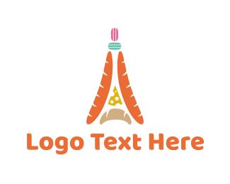 Bake - French Cuisine logo design