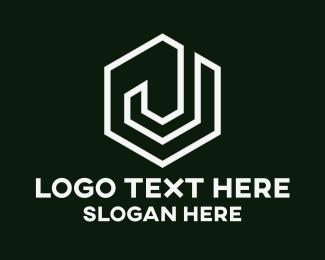 Letter J - White Letter J logo design